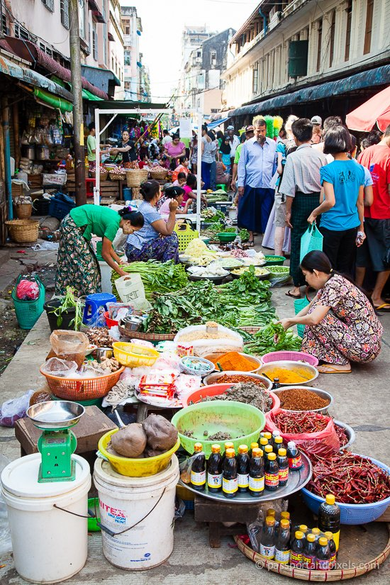 One of Myanmar's colourful markets