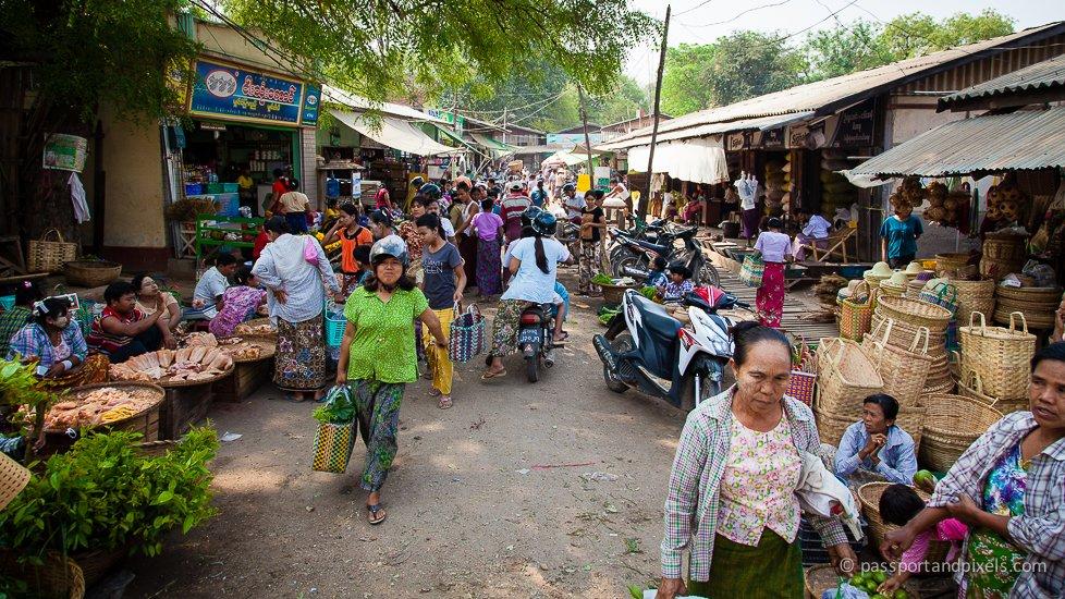 Street market, Bagan, Myanmar