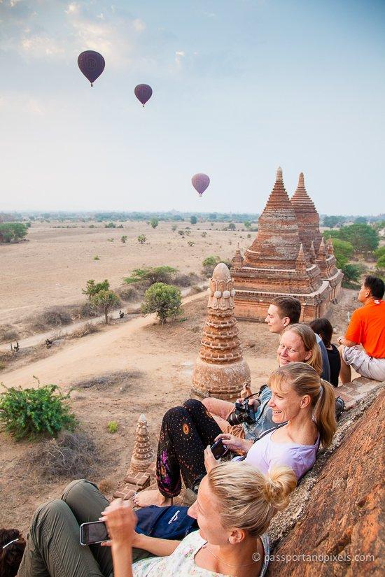 Bagan hot air balloon