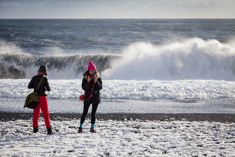 Sneaker waves Iceland