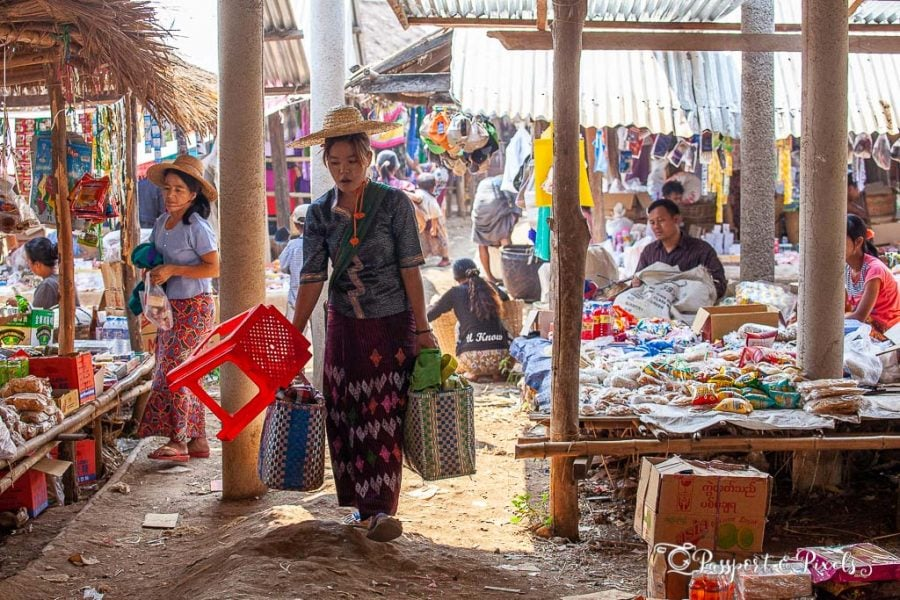 Thaung Tho market, Inle Lake, Myanmar