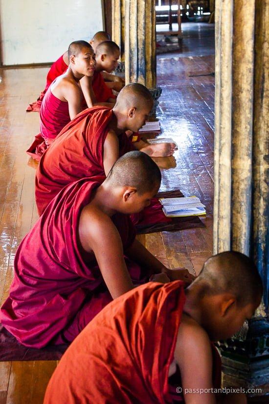 Older boys also studying hard, Shwe Yan Pyay monastery