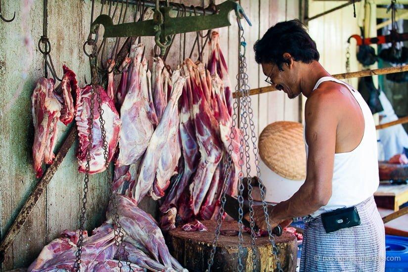 Butcher, 26th Street Market, Yangon, Myanmar