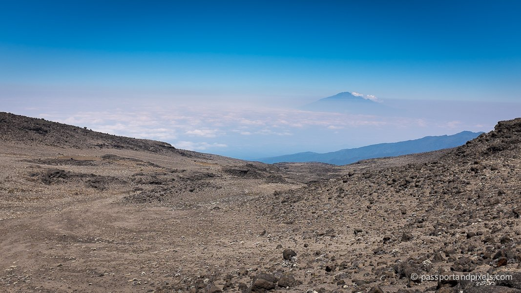 Kilimanjaro with Mount Meru in the distance