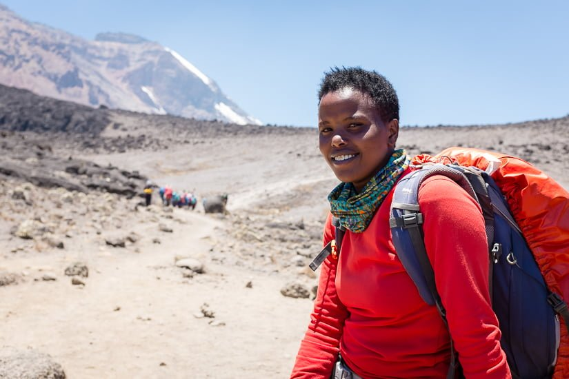Angela, female Kilimanjaro guide