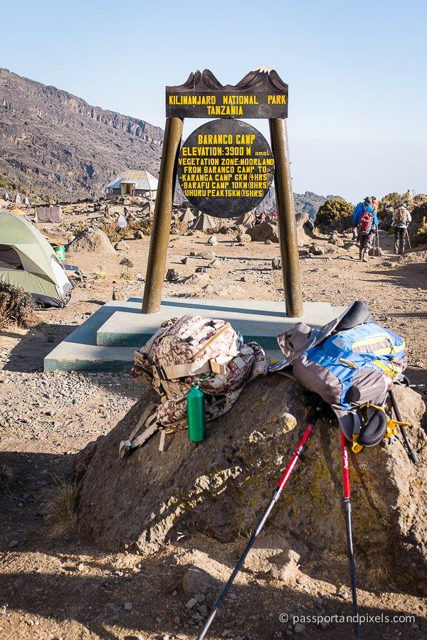 Barranco campsite Kilimanjaro