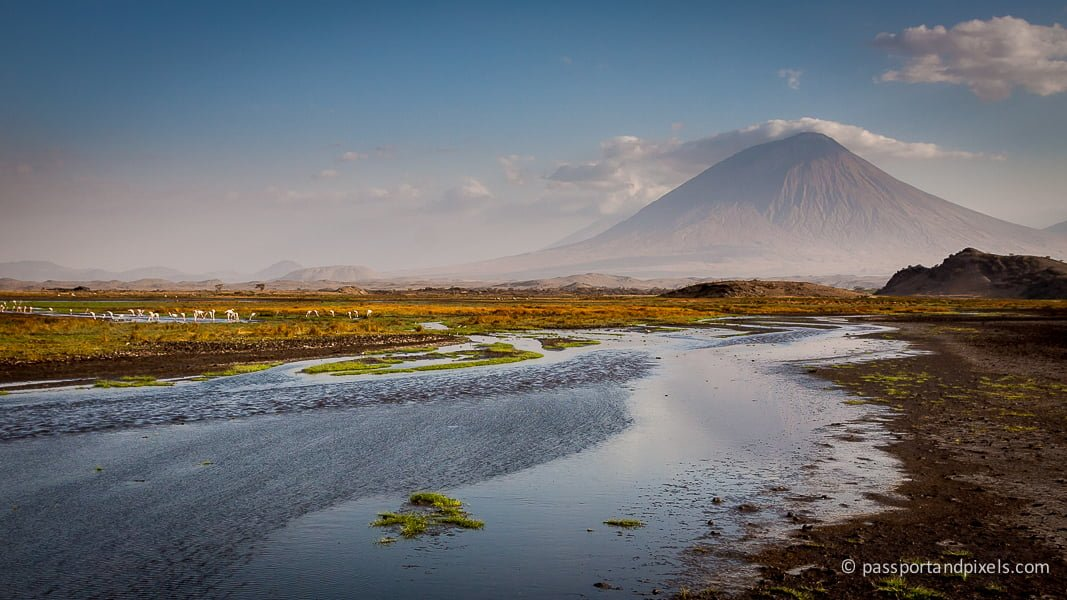 Ol Doinyo Lengai and Lake Natron