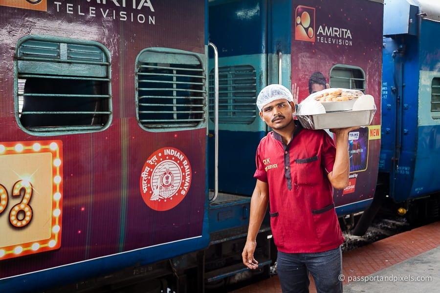 Food seller, Indian sleeper train