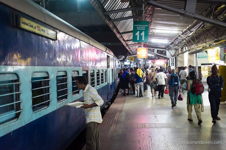 Sleeper train in the platform, India