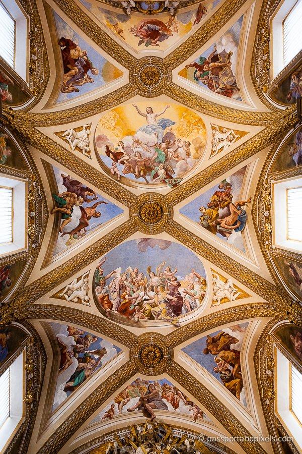 Frescoes in Certosa di San Martino