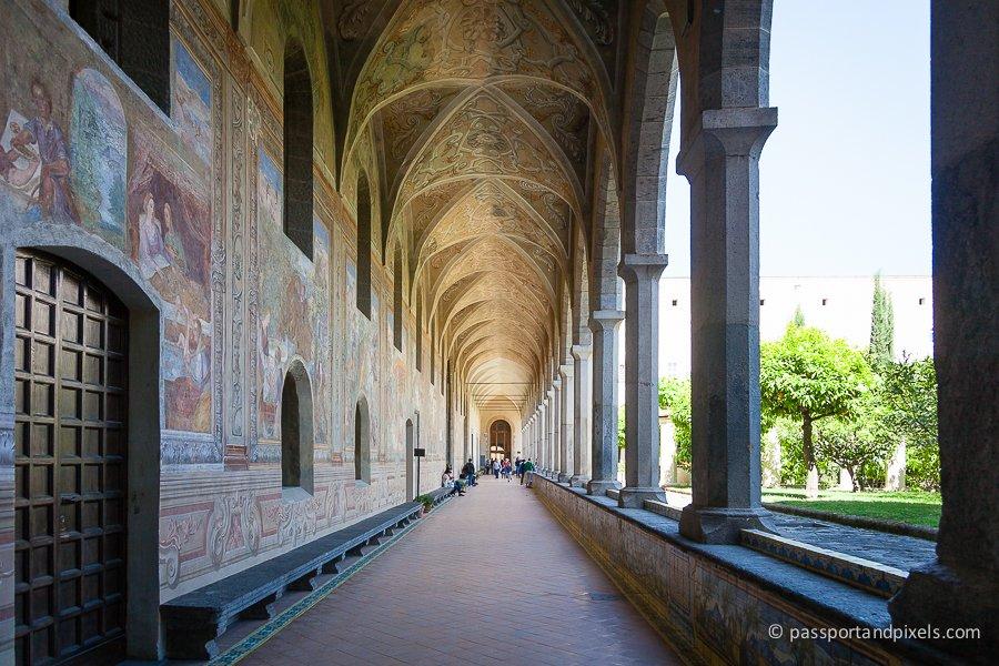 Frescoes in the cloister at Santa Chiara, Naples