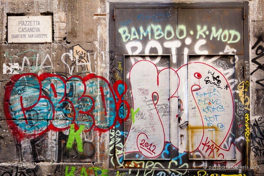 Messy graffiti in Naples