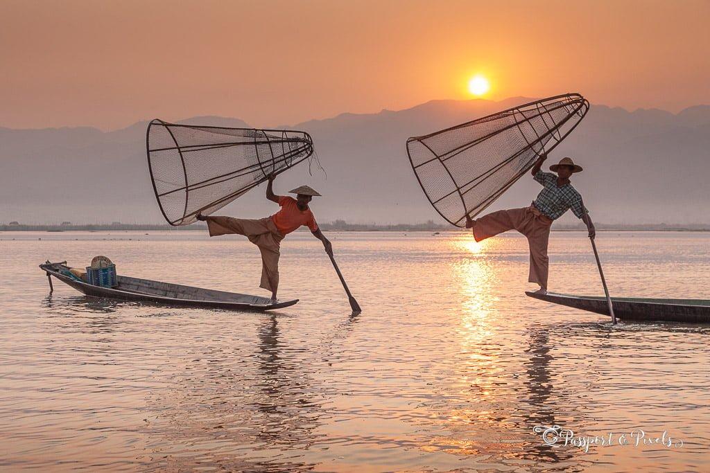 Leg-rowing fisherman, Inle Lake, Myanmar