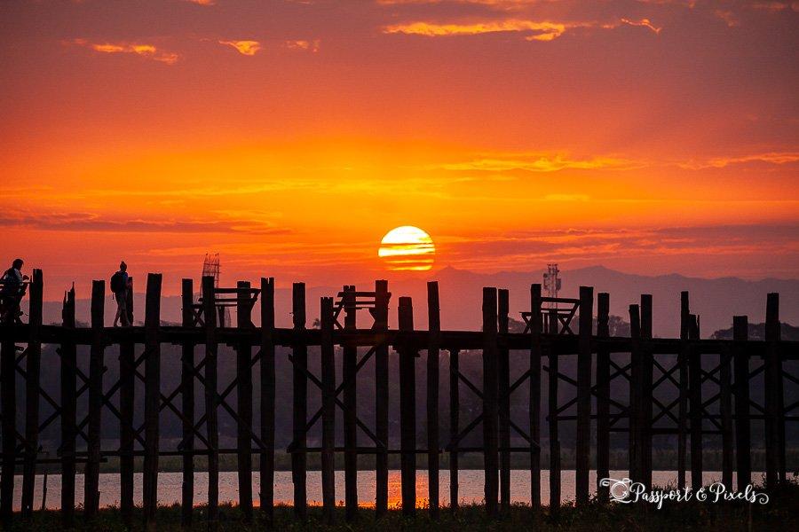 U Bein Bridge at Sunrise, Myanmar