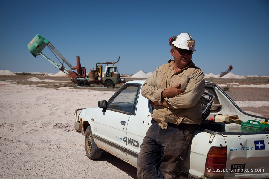 An opal miner in Coober Pedy