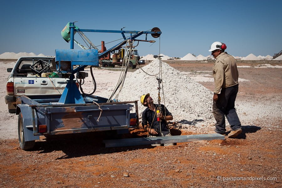 Opal mining in Coober Pedy