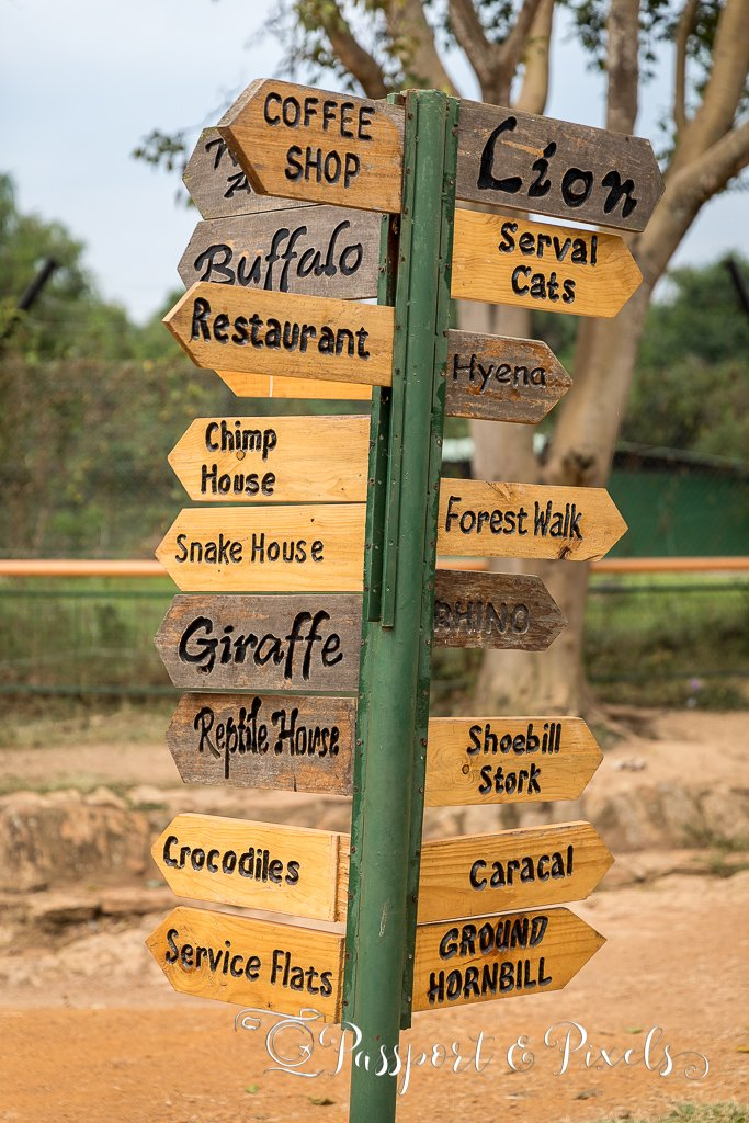 Signpost showing some of the attractions on offer