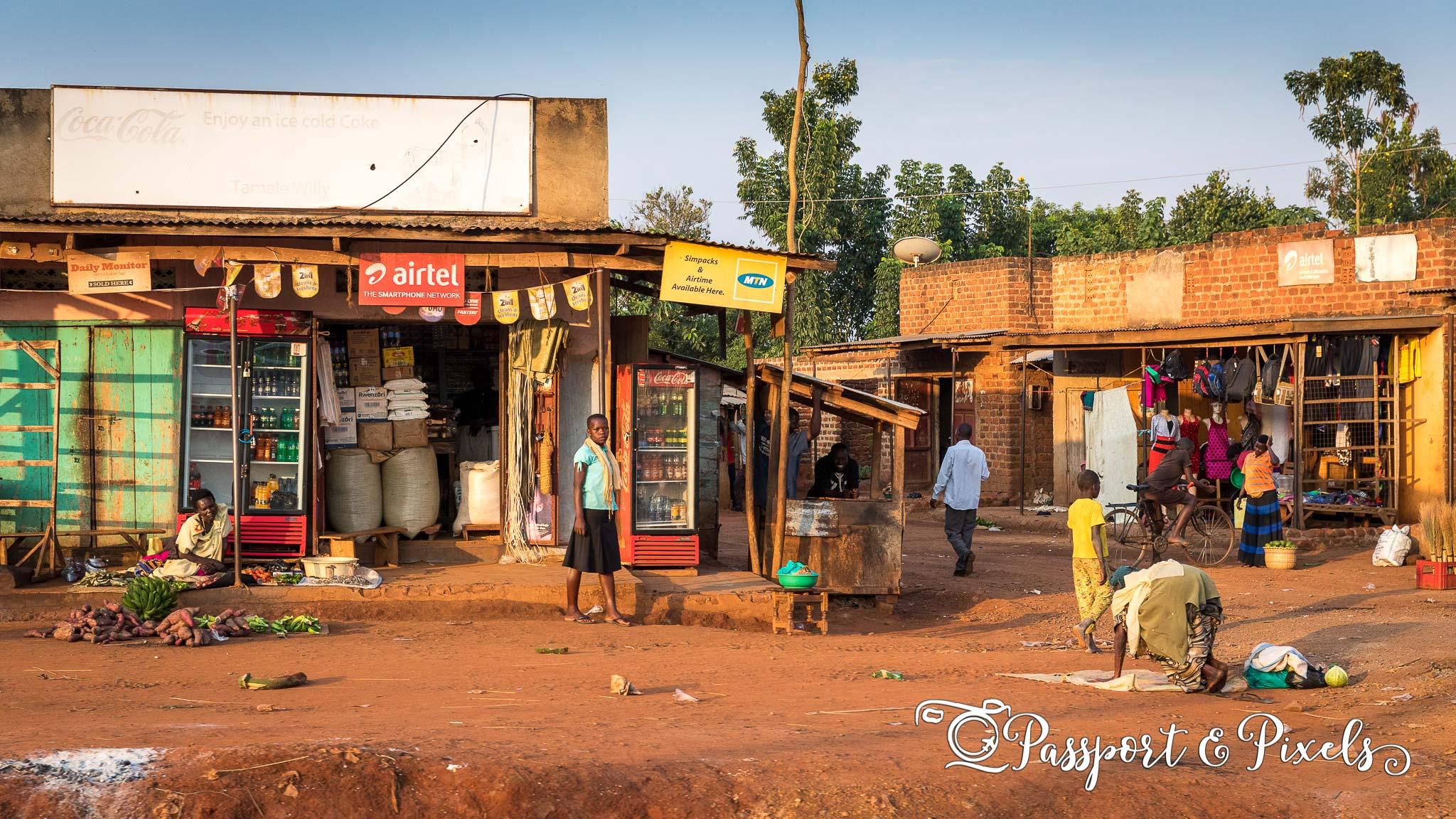 Rural Ugandan town