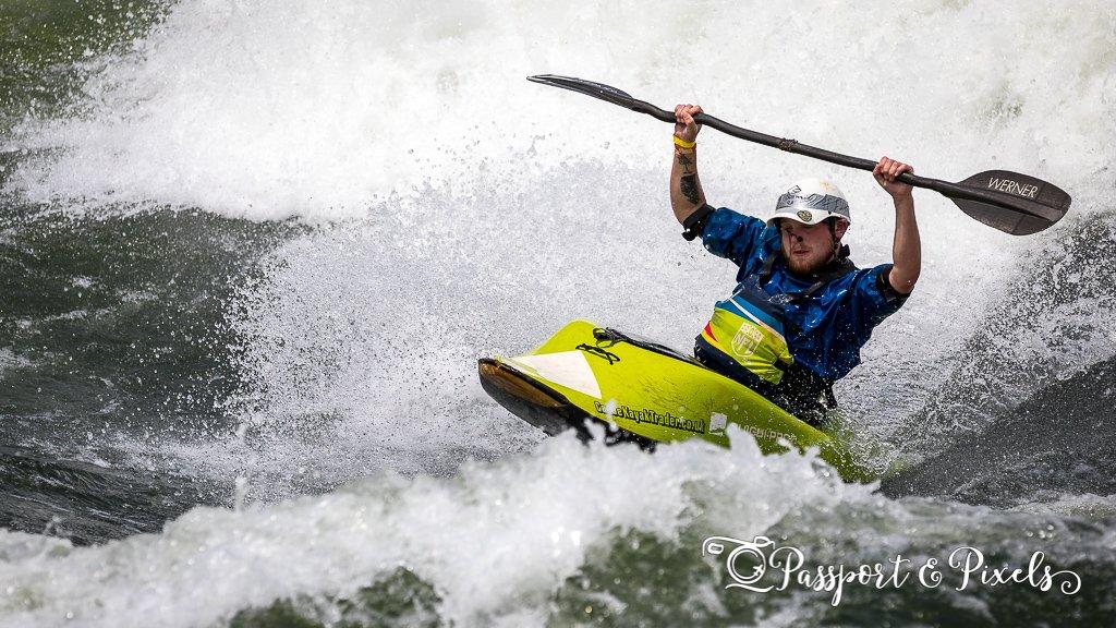 White water kayaking, Jinja Uganda