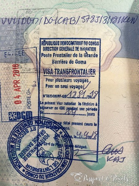 DR Congo passport stamp