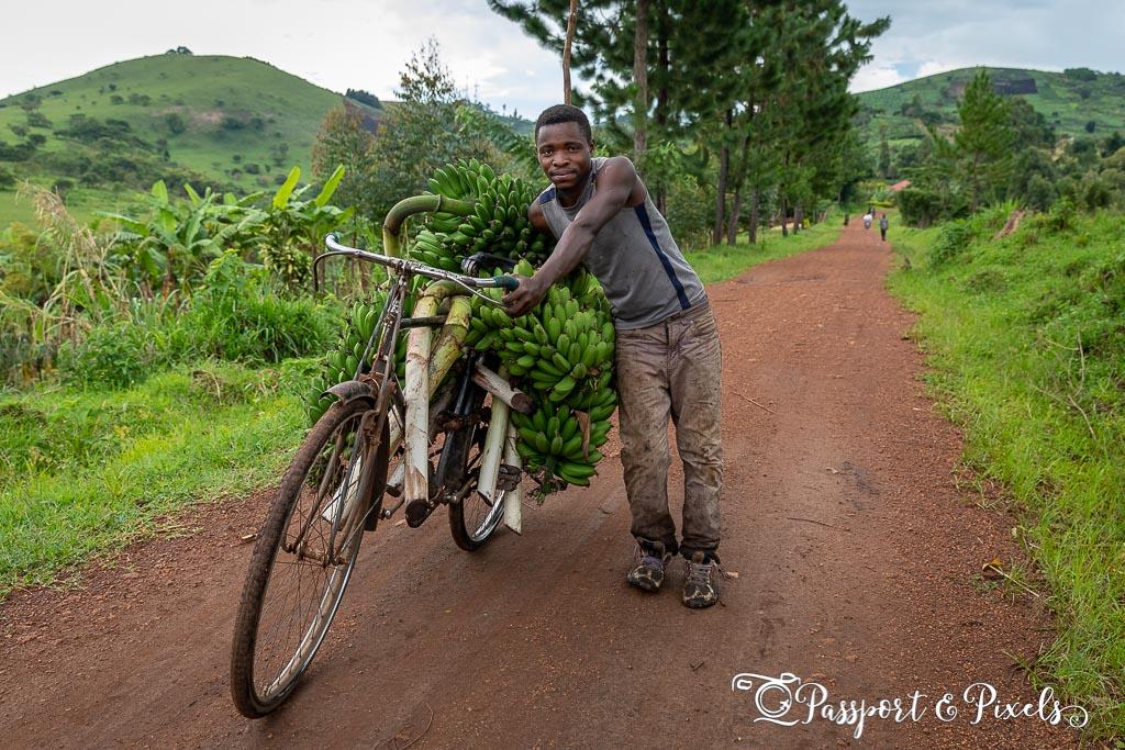 Ugandan man with matoke
