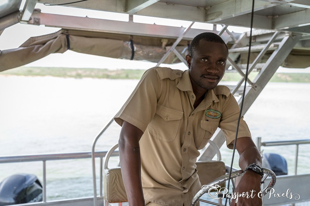 Boat safari on the Kazinga Channel, Uganda
