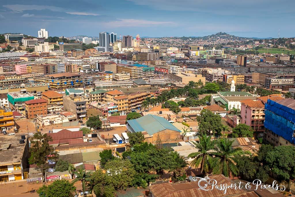 Kampala skyline cityscape