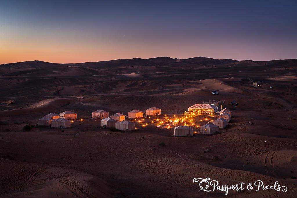 Desert campsite, Morocco