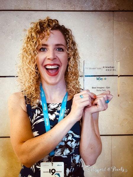 Winning an award at a blog event
