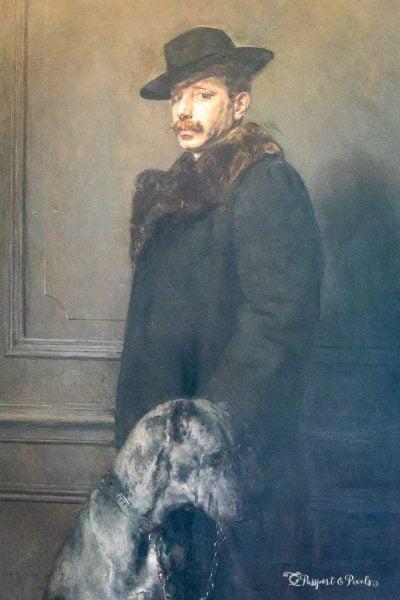 Baron Rodolphe d'Erlanger self-portrait