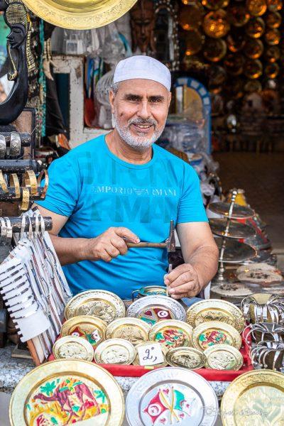 Market trader, Nabeul market