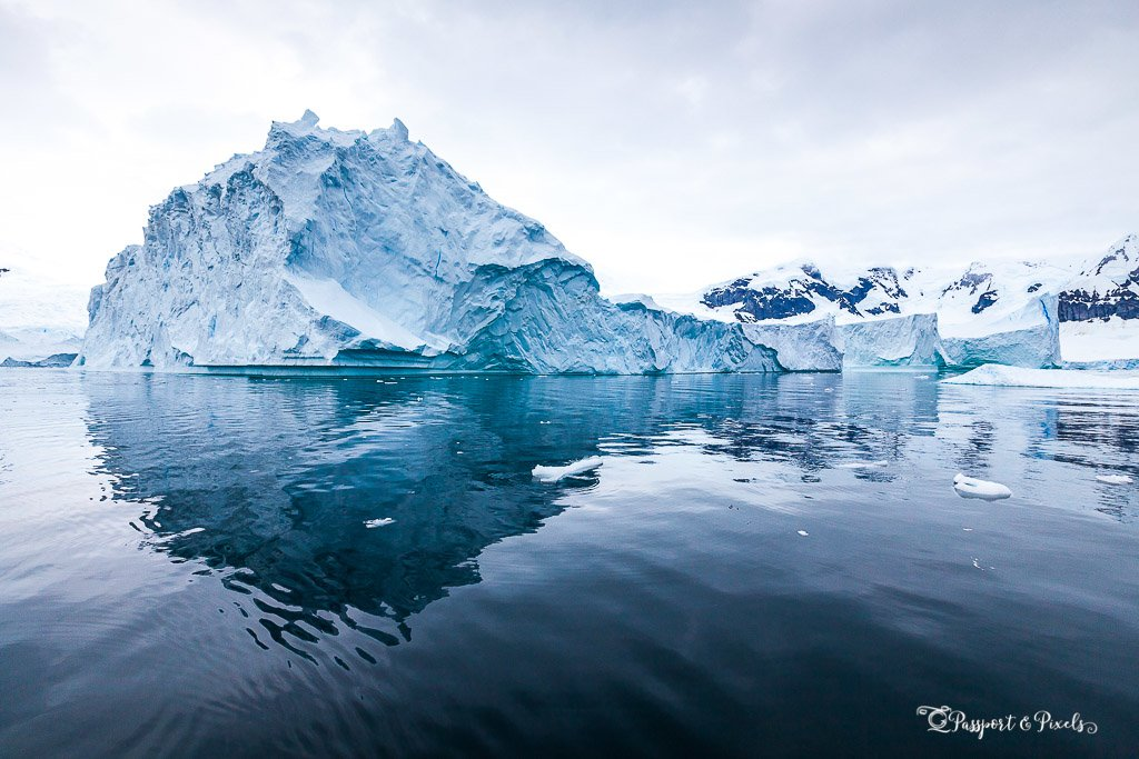 Icebergs floating in the Errera Channel, Antarctica