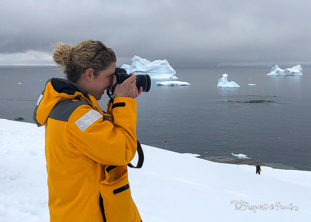 Getting stuck into the Antarctic photography