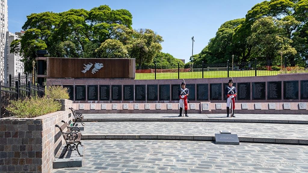 Falklands Las Malvinas memorial, Buenos Aires