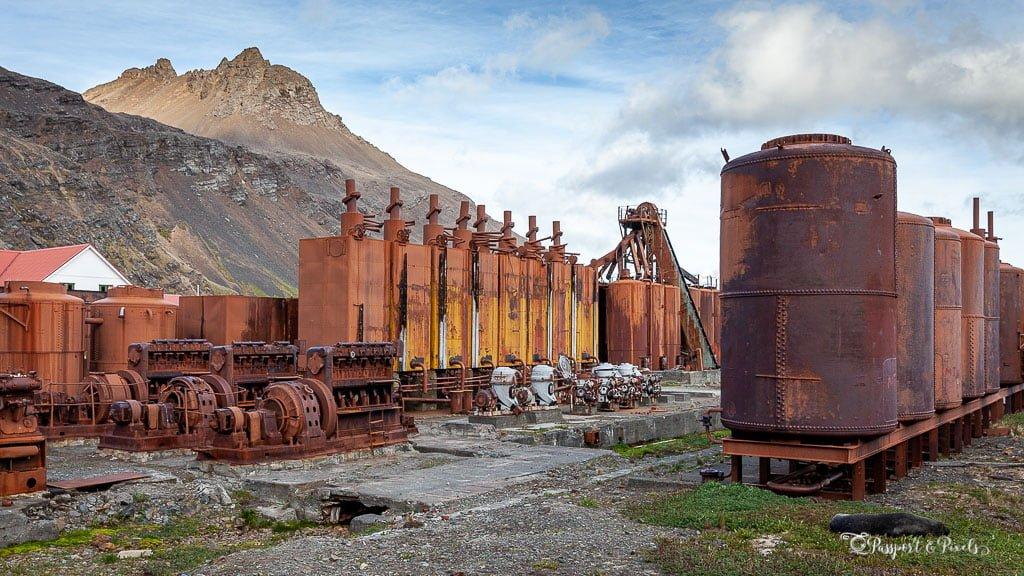Machinery at Grytviken Whaling Station, South Georgia
