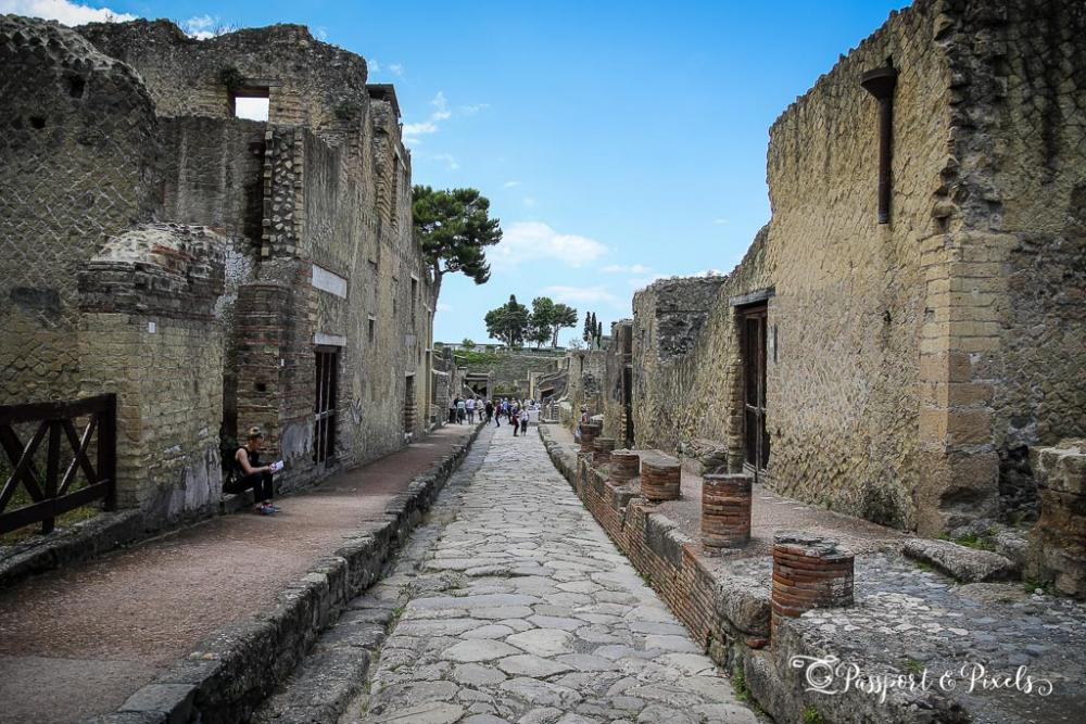 The houses of Herculaneum, still standing 2000 years later