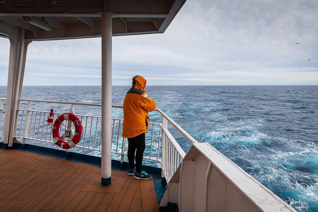 At sea on a cruise to South Georgia Island