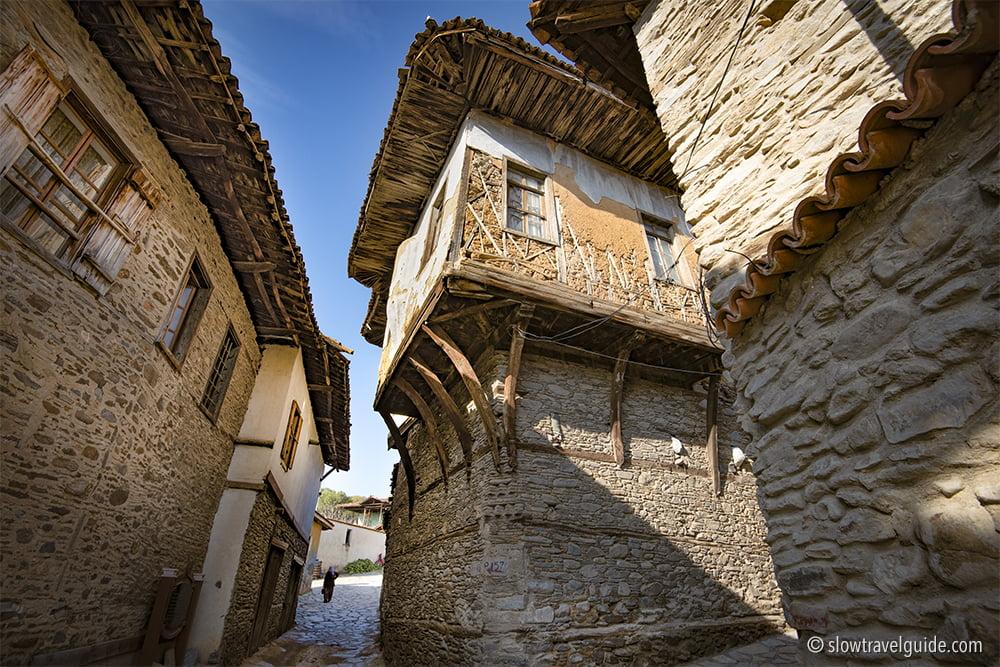 Ottoman houses in Birgi, Turkey. Credit: Slow Travel Guide