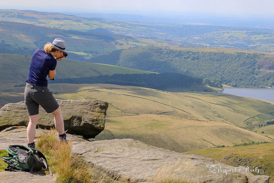 Travel photography tips for beginners: be safe. Photographing in the Peak District, UK