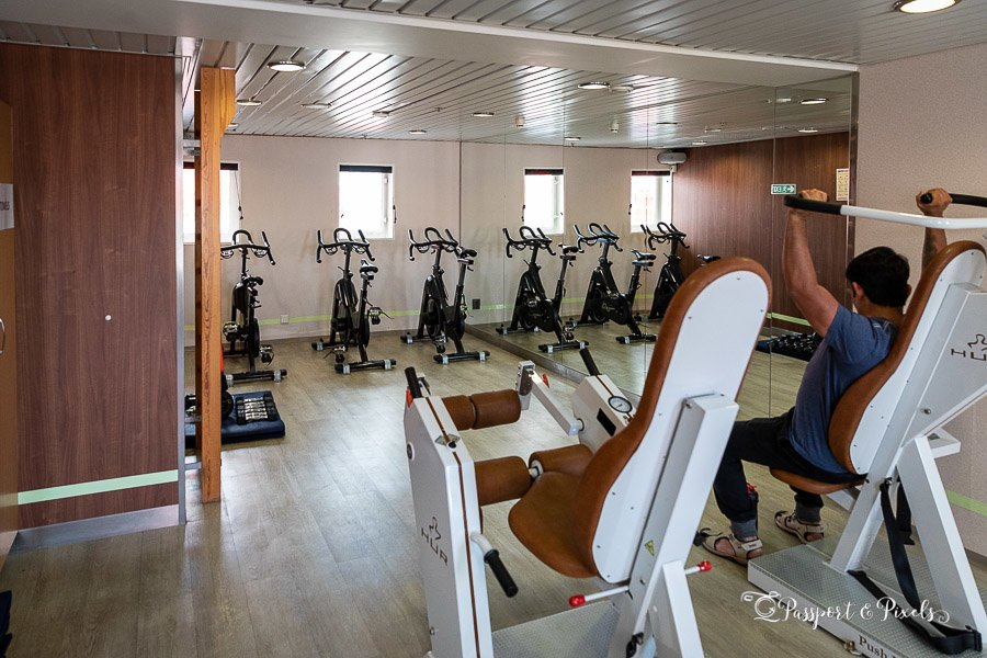Our Antarctic expedition ship had a small gym