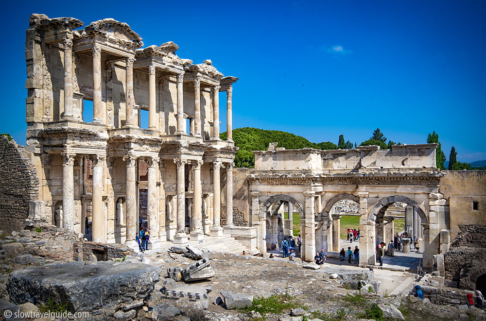 The famous library at Ephesus