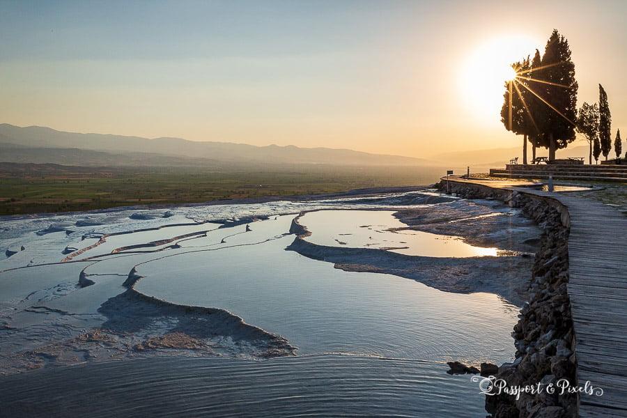 A Turkey Road Trip up the Aegean Coast: travertine terraces at Pamukkale