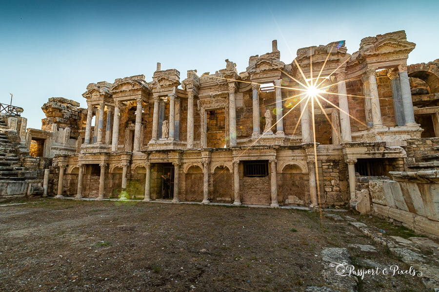 The theatre at Hierapolis, Turkey. Shot with a Canon 5D IV by Passport & Pixels
