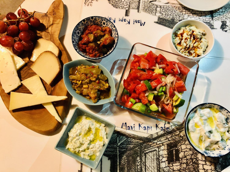 Turkish mezze at Mavi Kapi Kafe, Assos