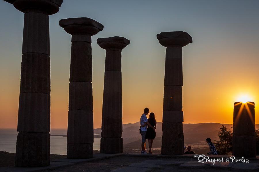 Temple of Athena at sunset, Assos, Turkey