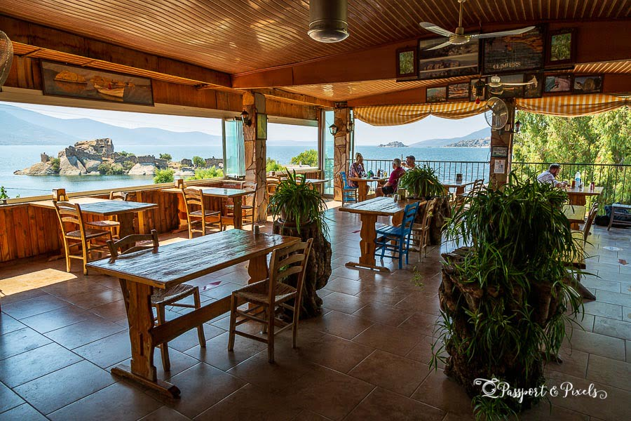 Have lunch at Selenes Pension on Lake Bafa during your road trip around Turkey