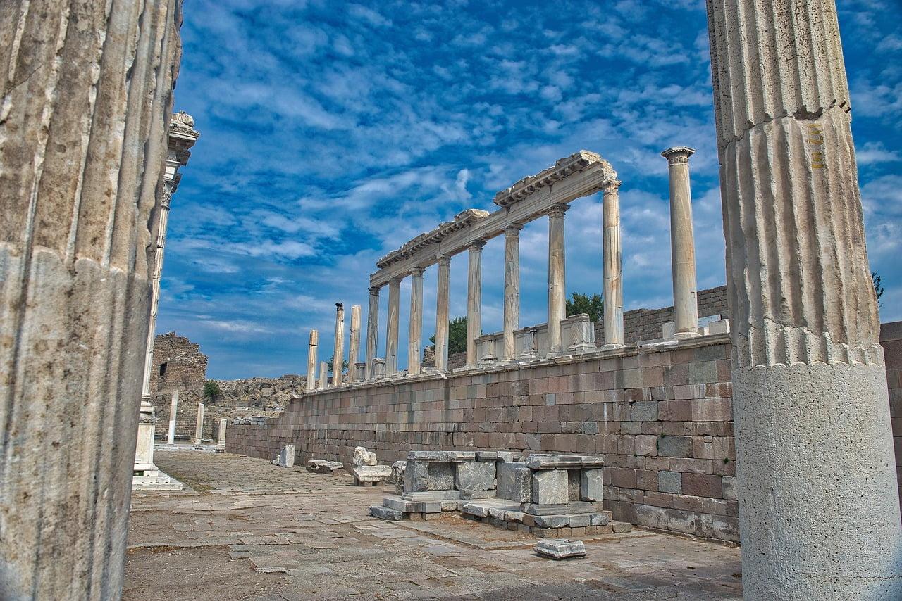 The Temple of Trajan at Pergamon