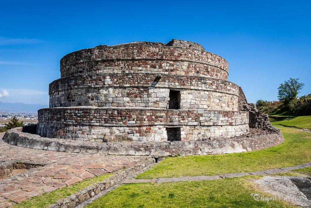 Aztec ruins in Mexico: Temple of Ehecatl at Calixtlahuaca