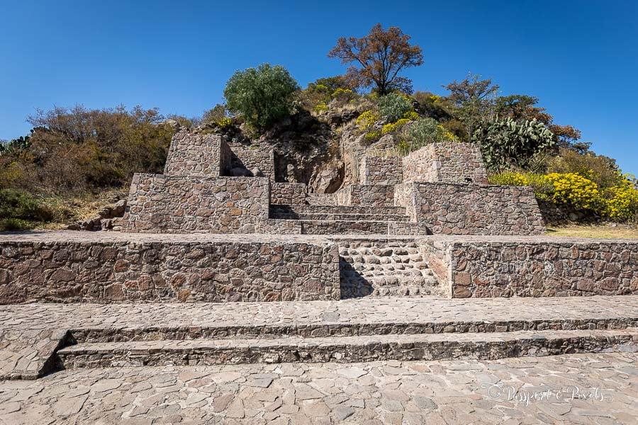Aztec ruins in Mexico: A temple at Tetzcotzinco, Mexico