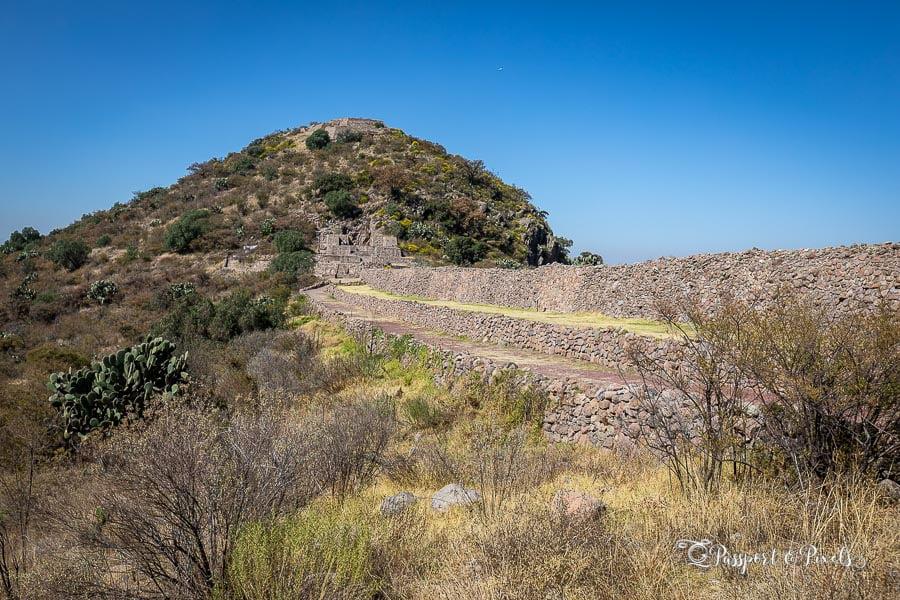 Aztec ruins in Mexico: an aqueduct at Tetzcotzinco, Mexico